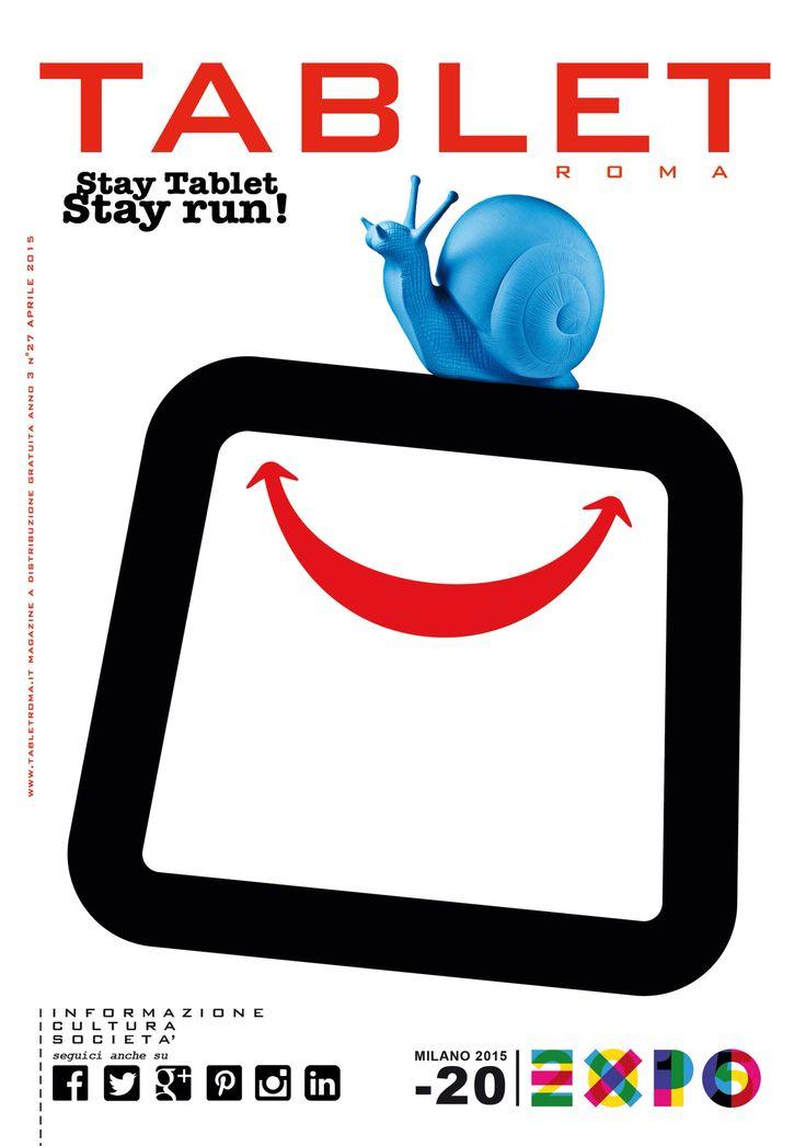 #TabletRoma #Aprile #copertina #rivista #Roma #Happio #magazine #April #2015 #cover