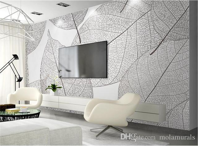 Compre Murales Personalizados De Papel Tapiz Fotografico 3d Hojas