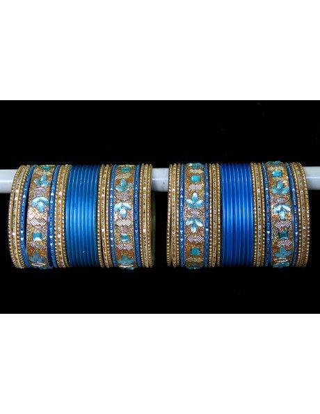 Princely Kundan Work Bangles http://www.bharatplaza.com/jewellery/bangles.html
