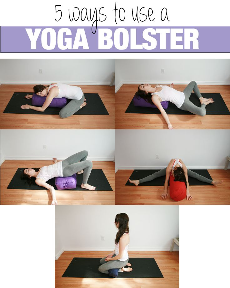 Yoga with Kassandra. Confused about what to do with a bolster? Here are five great poses that feel amazing with the help of this handy prop.  #yoga  www.yogawithkassandra.com