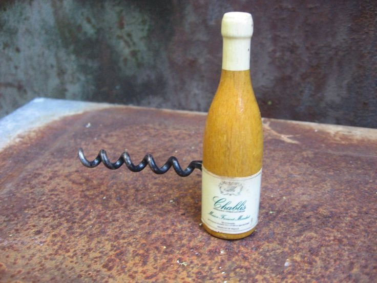 Chablis Corkscrew & Magnet. Decorative French country wine