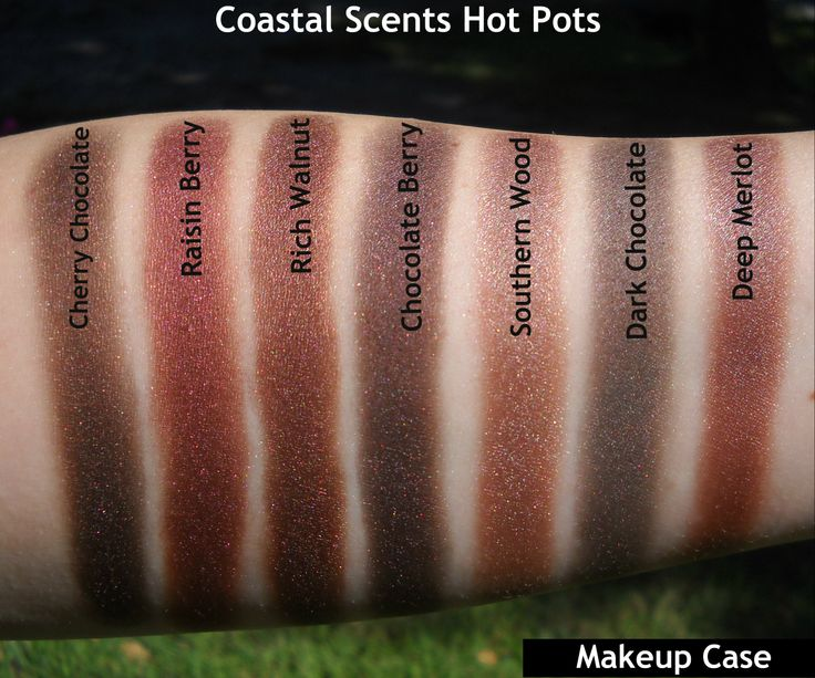 Coastal Scents hot pot swatches (I love all of these colors <3 )