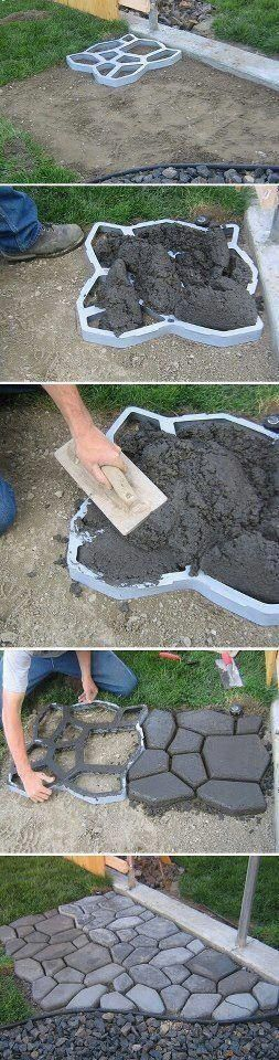 Concrete stones path - DIY
