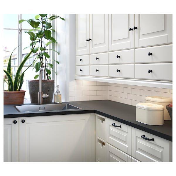 Ekbacken Countertop Matte Anthracite Laminate 98x1 1 8 Ikea White Cabinets Black Countertops White Cabinets White Countertops Black Countertops
