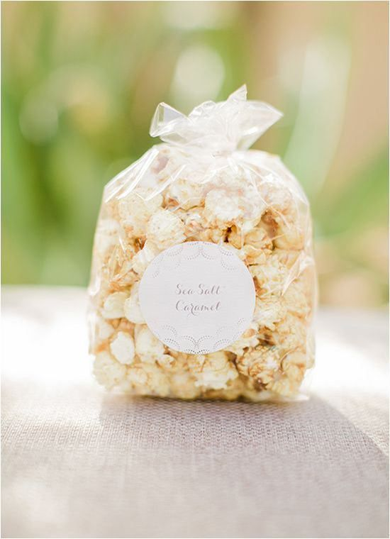 favor edibles - homemade popcorn favors