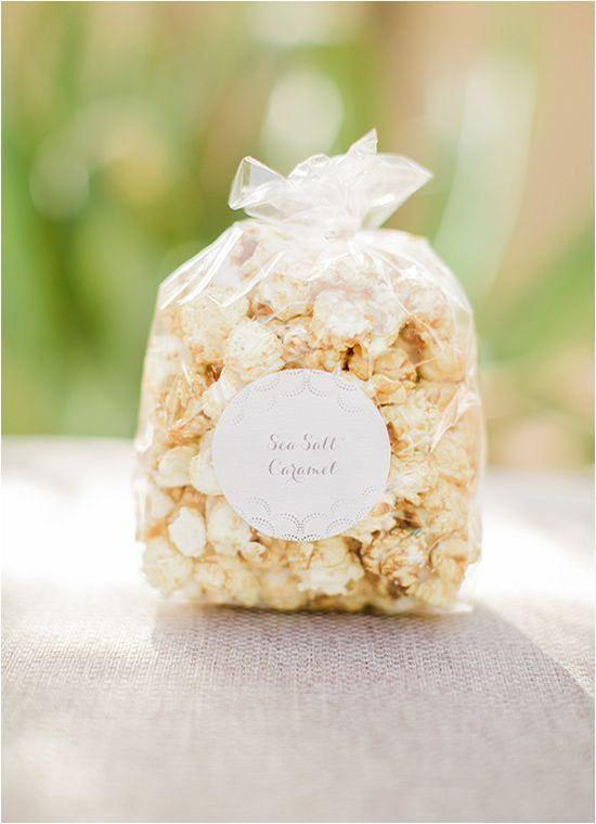 favor edibles - homemade popcorn favors