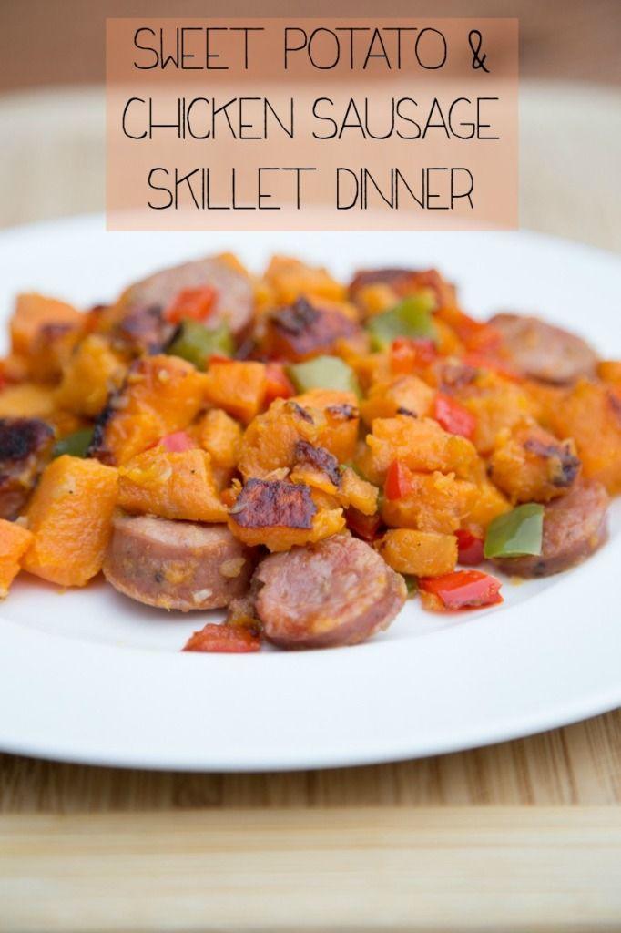 Sweet Potato & Chicken Sausage Hash ~ New 31 Days of Skillet Dinners Recipe!   5DollarDinners.com