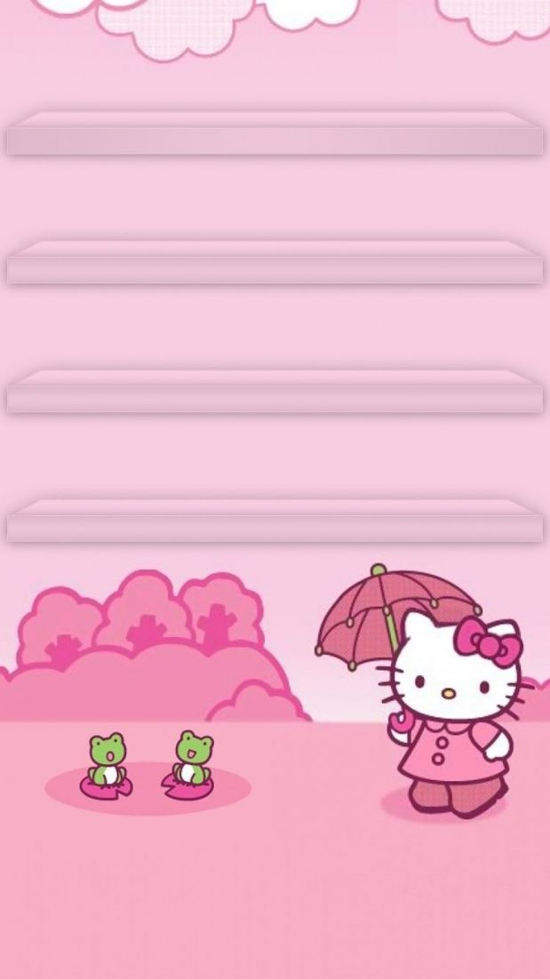 Tap And Get The Free App Hello Kitty For Girls Bow Pink For Hello Kitty Wallpaper Apps Find Your Favorite Wallpapers Papeis De Parede Desenhos