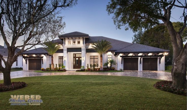 Transitional West Indies style house plan, luxury single story, outdoor living & entertainment, contemporary open concept floor plan w/pictures and specs.