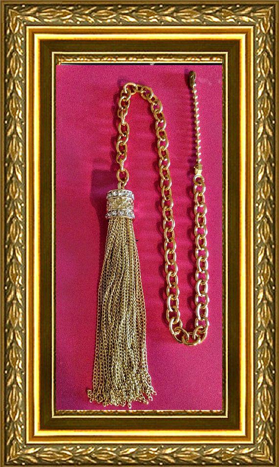 Bling Ceiling Fan Pull Chain / Home Decor  Gold Chain Tassel