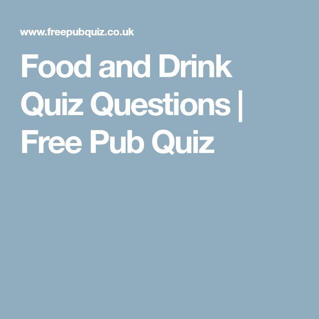 Food and Drink Quiz Questions | Free Pub Quiz