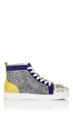8938008521d CHRISTIAN LOUBOUTIN NO LIMIT SPIKED LEATHER   SUEDE SNEAKERS - BLUE SIZE 11  M.  christianlouboutin  shoes