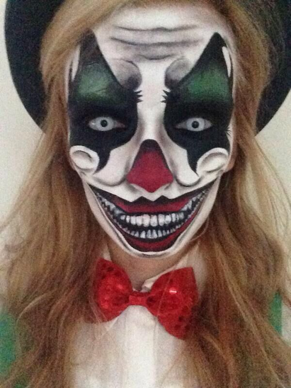 Amazing clown makeup!                                                                                                                                                                                 More