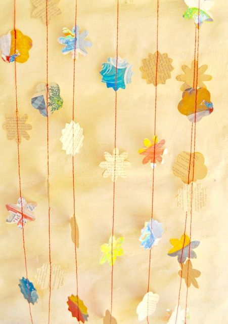 Paper Garland:My Little Dinosaur and Alice Through the Looking Glass. https://www.etsy.com/au/listing/257740653/christmas-paper-garland-vintage-little