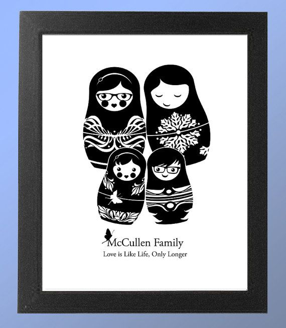 Custom Family Portrait in Russian Nesting Doll by LuvinEveryMinute, $20.00