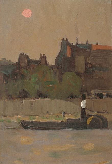 James Wilson Morrice - Barge on the Seine (c. 1892-1893)