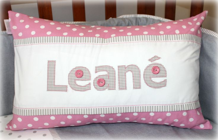 Leané personalised name scatter Available from Tula-tu Baby Linen