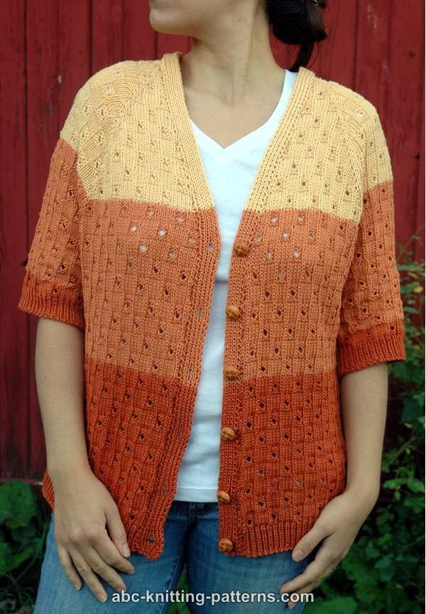 ABC Knitting Patterns - Grand Canyon Cardigan