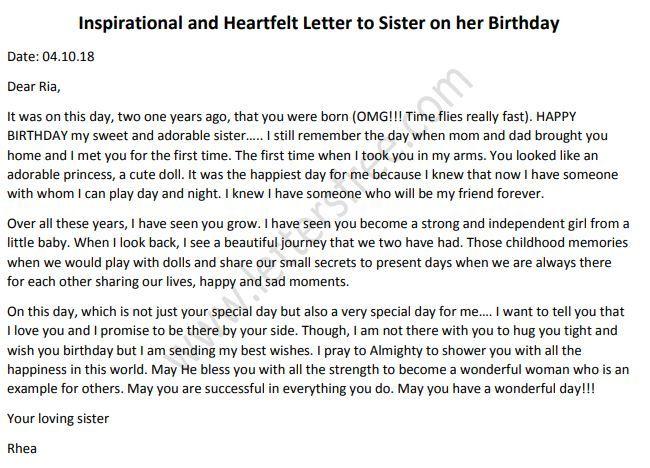 Best Birthday Letter For Sister.Inspirational And Heartfelt Letter To Sister On Her Birthday