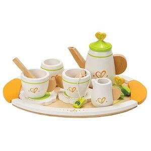 Wooden Tea For Two Set