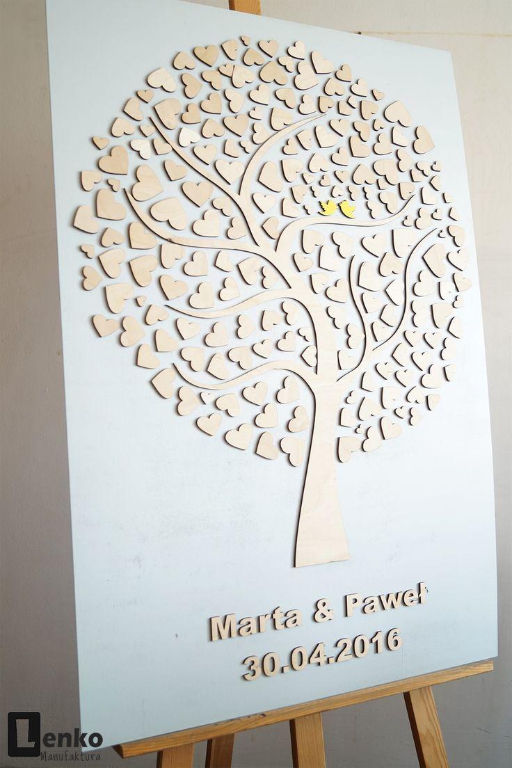 Księga gości weselnych drzewo ślubne 3d Lenko Manufaktura