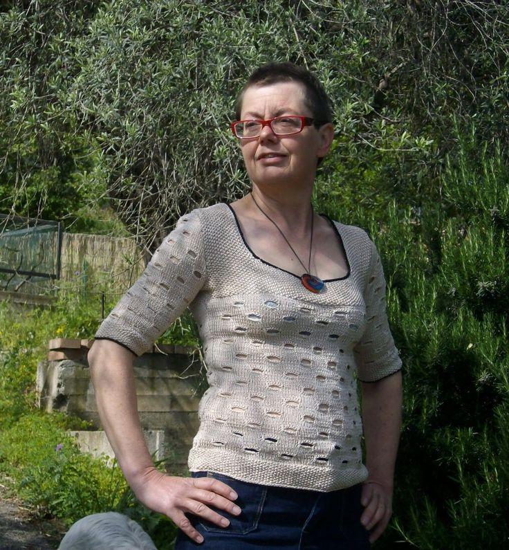 FALCONARA, strikkeopskrift til bomuldsbluse fra domoras