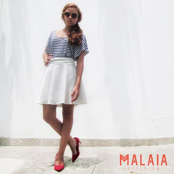 Low back  Top malaia en stripes blanco y azul #malaiaBasics #malaia #marcaEcuatoriana