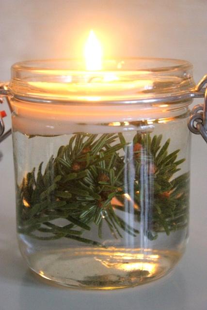 jar + candle