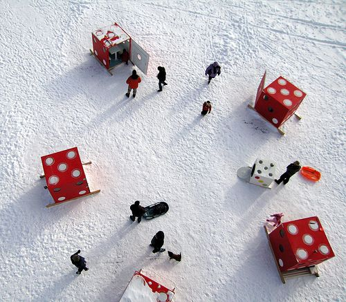Neat-o Outdoor Art Exhibitions Inspired by Ice Fishing Houses - My Modern Metropolis