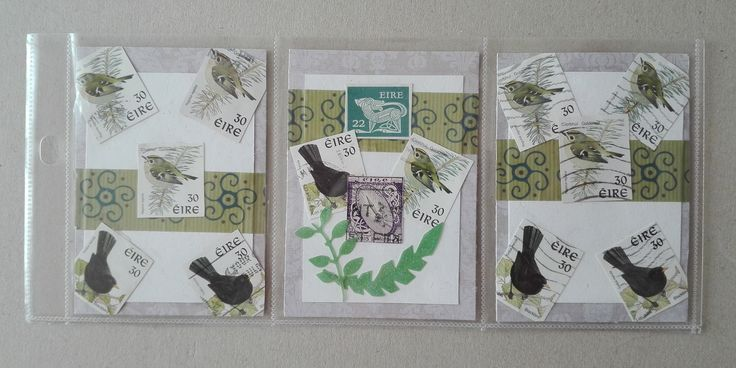 Received from the USA: Mini Pocket Letter with Irish used stamps (swap: Mini Pocket Letter Swap #1 - Postage Stamps)