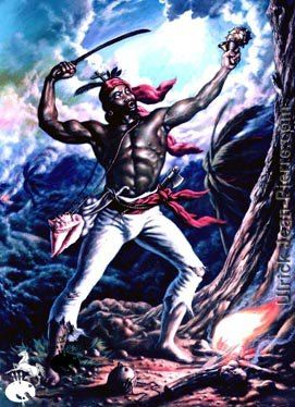 "Boukman  Boukman was a Hougan, or Voodoo priest, whose death was considered a catalyst to the slave uprising that marked the beginnig of the Haitian Revolution.  His name came from his English nickname ""Book Man"" which he earned due to his ability to read."