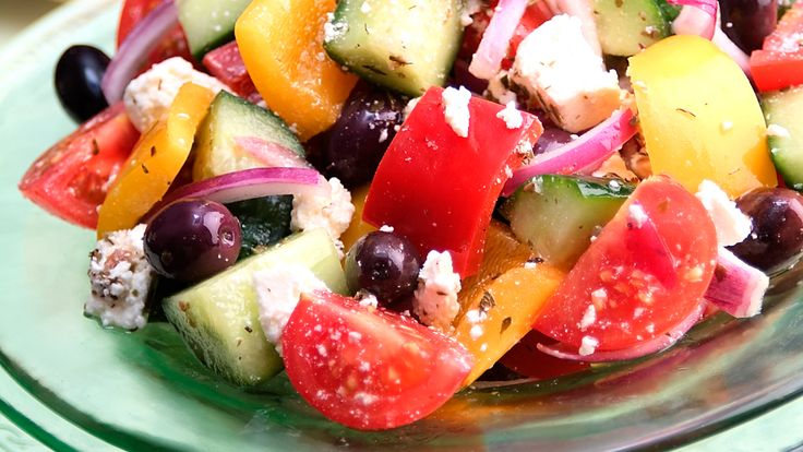 Greek Salad with a Hint of Mint