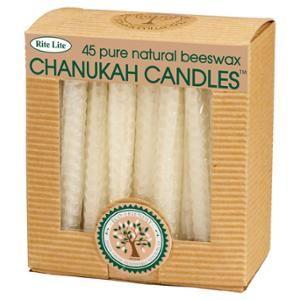 """45ct Eco-Friendly Natural Beeswax Chanukah Hanukkah Menorah Candles 4"""" for $15.99"""