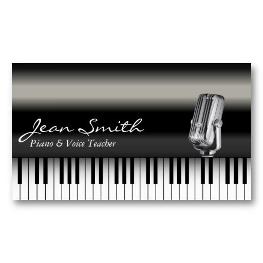 20 best piano teacher business cards images on pinterest teacher classy dark piano voice teacher business card colourmoves