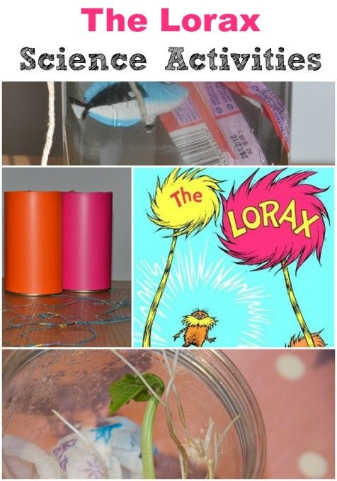 The Lorax science activities- fun experiments for students to learn from while learning more about this great Dr. Seuss book