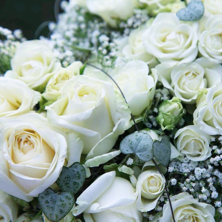Wedding bouqet white roses