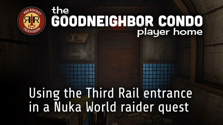 [MOD]The Goodneighbor Condo Player Home Mod - Using the Third Rail entrance in a Nuka World raider quest #Fallout4 #gaming #Fallout #Bethesda #games #PS4share #PS4 #FO4