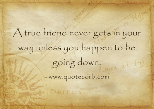 true friendship quotes unless you happen going down