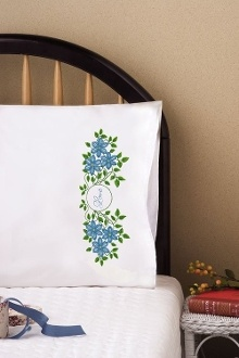 Tobin Home Crafts, Love Set Pillowcases Stamped Embroidery
