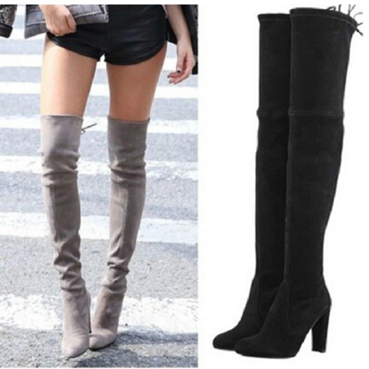 Women Stretch Faux Suede Thigh High Boots Sexy Fashion Over the Knee Boots High Heels Woman Shoes Black Gray Winered #electronicsprojects #electronicsdiy #electronicsgadgets #electronicsdisplay #electronicscircuit #electronicsengineering #electronicsdesign #electronicsorganization #electronicsworkbench #electronicsfor men #electronicshacks #electronicaelectronics #electronicsworkshop #appleelectronics #coolelectronics