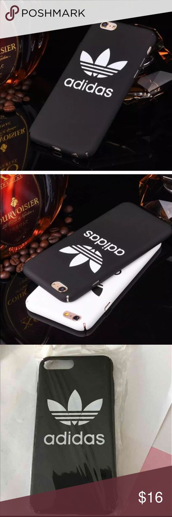 Adidas 7 case last one Cute black adidas hard case for iPhone 7 ,,,new adidas  Accessories Phone Cases