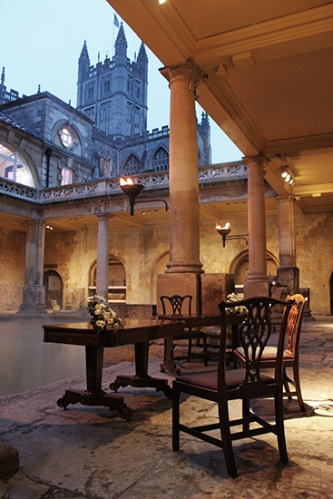 The Roman Baths and Pump Rooms - Unique wedding venue at world heritage site in Bath Somerset