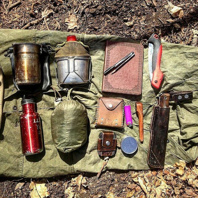 In My Satchel 1st Row Stanley Cooker Us Army Surplus Canteen And