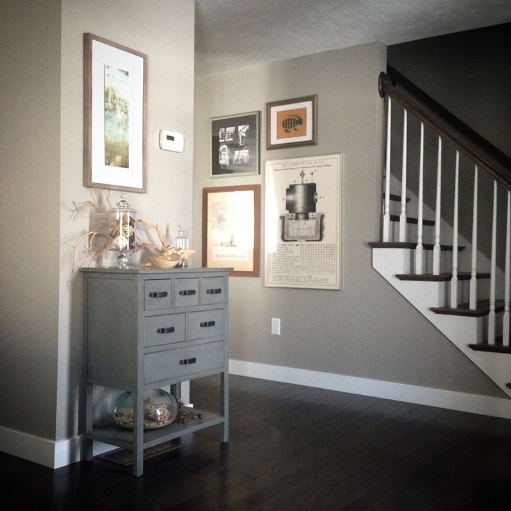 Sherwin Williams Classic French Gray Cabinet Color Sherwin: Neutral/natural Entryway Decor In Our New Home. Sherwin