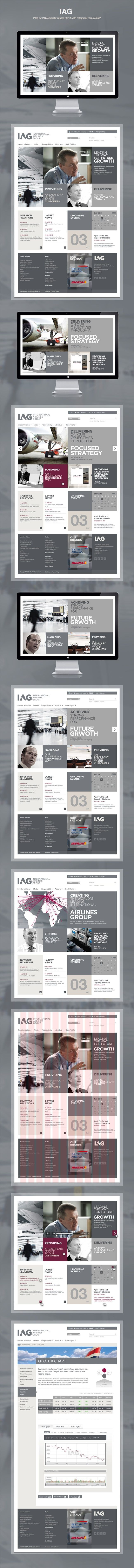 "IAG by Yan Duffield, via Behance *** ""Pitch for IAG corporate website (2012) with ""Intermark Tecnologias"""":"