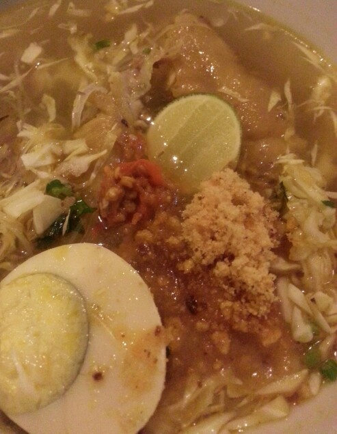 the delicious Soto Ayam Lamongan - opposite BCA building Cinere Raya