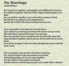 On Marriage - Kahlil Gibran