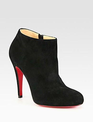 Christian Louboutin Shoes Outlet Sale For Men And Women Christian Louboutin  SulTaupee Ankle Boots Black [Women Ankle Boots - Color: Black Material:  Suede ...
