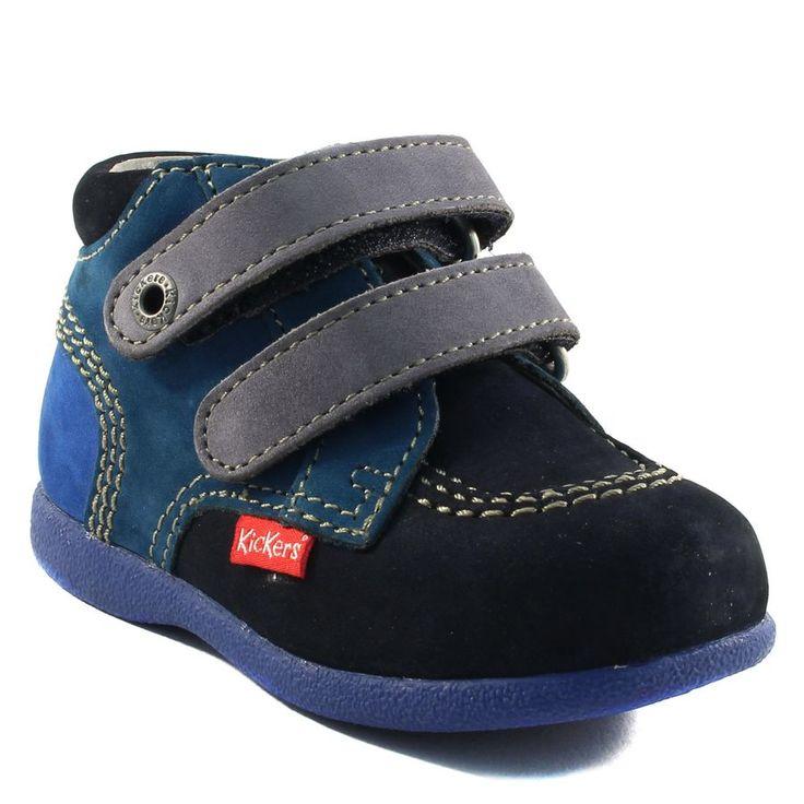 00c82f82fb202 148A KICKERS BABYSCRATCH MARINE www.ouistiti.shoes le spécialiste internet chaussures  bébé ...