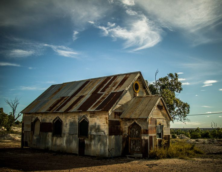 An old church in the outback of Australia, located in Opal mining community of Lightning Ridge.
